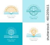 set of vector education logo ... | Shutterstock .eps vector #481205611