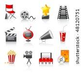 cinema icons | Shutterstock .eps vector #48120751