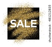 gold glitter background with... | Shutterstock .eps vector #481212835