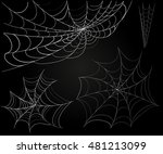 spider web set. vector... | Shutterstock .eps vector #481213099