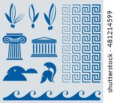 vector greece graphics icons... | Shutterstock .eps vector #481214599