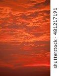 "dramatic ""fire sky"" sunrise in... | Shutterstock . vector #481217191"