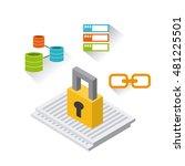 business set isometrics icons... | Shutterstock .eps vector #481225501