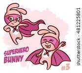 superhero bunny vector... | Shutterstock .eps vector #481225801