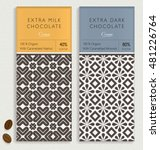 chocolate bar packaging mock up.... | Shutterstock .eps vector #481226764