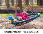 little boy and girl on a... | Shutterstock . vector #481228315