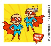 super family. grandfather and... | Shutterstock .eps vector #481228885