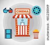 cinema entertainment flat icon... | Shutterstock .eps vector #481230049