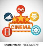 cinema entertainment flat icon... | Shutterstock .eps vector #481230379