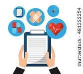 medical concept set icons...   Shutterstock .eps vector #481232254