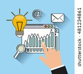 search engine optimization flat ... | Shutterstock .eps vector #481234861