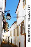 Small photo of street of Evora city in Portugal
