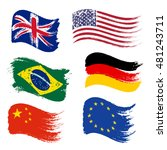 collection of popular world... | Shutterstock .eps vector #481243711