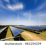 solar panels and wind... | Shutterstock . vector #481254259