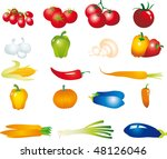 vegetables vector | Shutterstock .eps vector #48126046