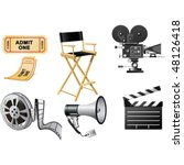 film industry attributes | Shutterstock .eps vector #48126418