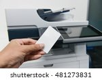 using smart card with printer... | Shutterstock . vector #481273831