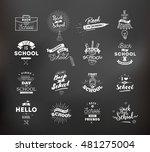 back to school typographic... | Shutterstock .eps vector #481275004