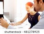 business people in modern office | Shutterstock . vector #481278925