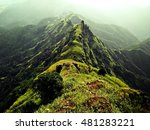 Small photo of A picture of a long stretch of mountains which form a continuous walk-able path all along.