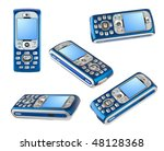 set of mobile phones isolated...   Shutterstock . vector #48128368