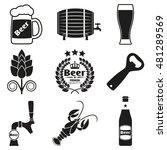 beer icon set with beer bottle  ... | Shutterstock . vector #481289569