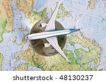 The air travel - stock photo