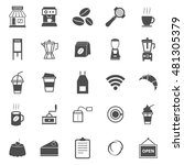 coffee shop icons on white... | Shutterstock .eps vector #481305379