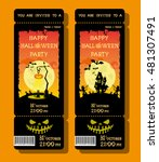 set of halloween ticket or... | Shutterstock .eps vector #481307491