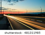 moving car with blur light... | Shutterstock . vector #481311985