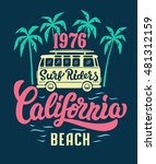 california beach surf riders. t ... | Shutterstock .eps vector #481312159