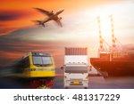 industrial container cargo... | Shutterstock . vector #481317229