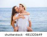 couple romance beach love... | Shutterstock . vector #481320649