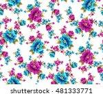 flower seamless pattern | Shutterstock . vector #481333771