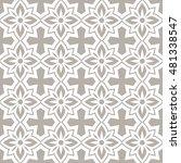 seamless ornamental pattern... | Shutterstock .eps vector #481338547
