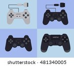 game pad with flat design | Shutterstock .eps vector #481340005