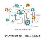 line flat vector business... | Shutterstock .eps vector #481343335