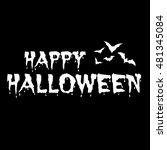 design of a happy halloween... | Shutterstock .eps vector #481345084