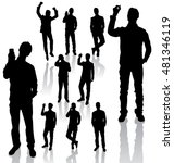 vector silhouettes. different...   Shutterstock .eps vector #481346119