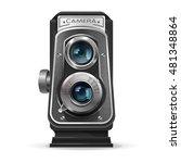 realistic vintage retro camera. ... | Shutterstock .eps vector #481348864