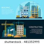 construction banners set with... | Shutterstock .eps vector #481352995