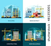 construction banners set with... | Shutterstock .eps vector #481353001