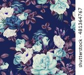 seamless floral pattern with... | Shutterstock . vector #481364767
