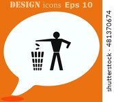 throw away the trash icon ... | Shutterstock .eps vector #481370674