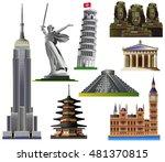 World Landmarks Set 1. Vector...