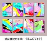 set of creative universal... | Shutterstock .eps vector #481371694