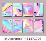 set of creative universal... | Shutterstock .eps vector #481371709