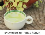 tasty hot green tea | Shutterstock . vector #481376824