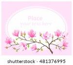 Vector Eps 10. Pink Magnolia...