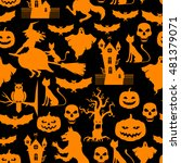 illustrations of halloween... | Shutterstock . vector #481379071